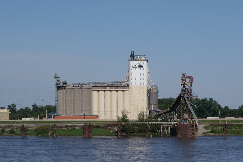 Cargill grain elevator in East St. Louis, Illinois.