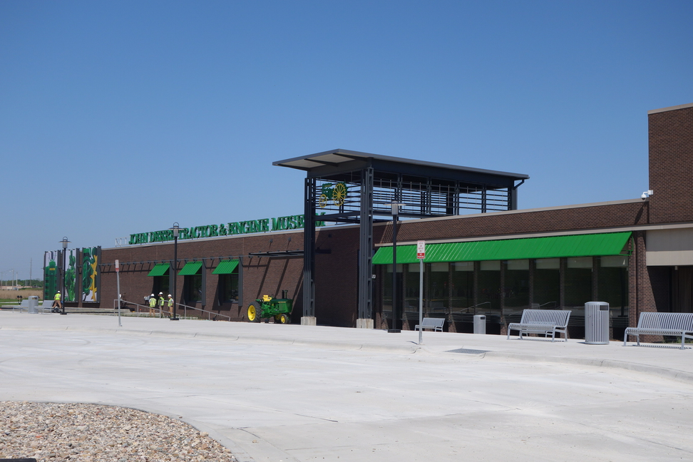 Deere museum outside of Deere production facility in Moline, Illinois.