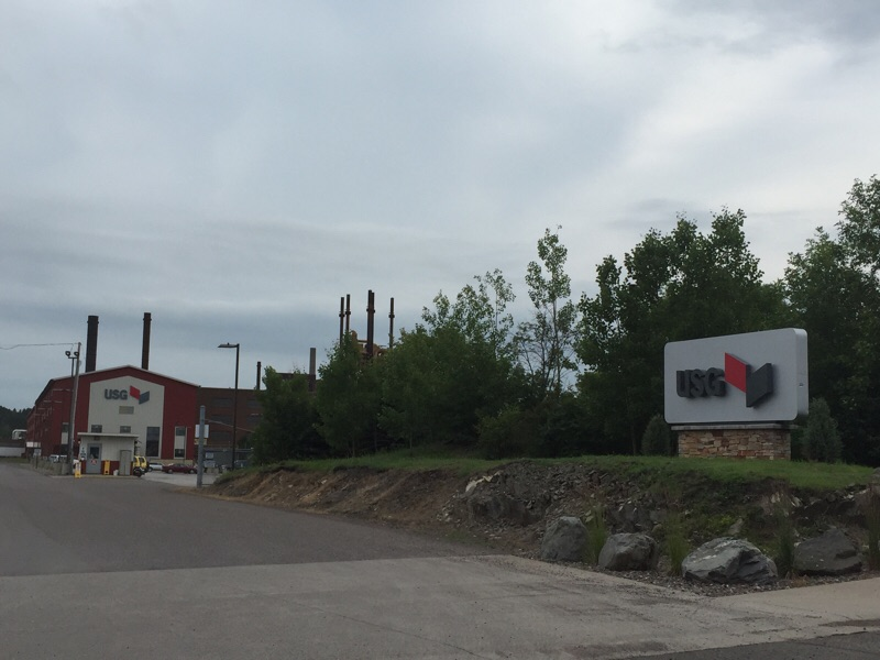 USG plant in Cloquet, Minnesota where the Company produces ceiling panels.