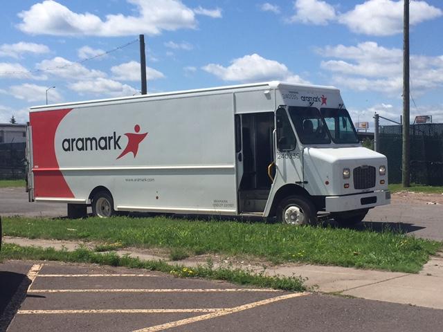 Aramark supply vehicle in Superior, Wisconsin.