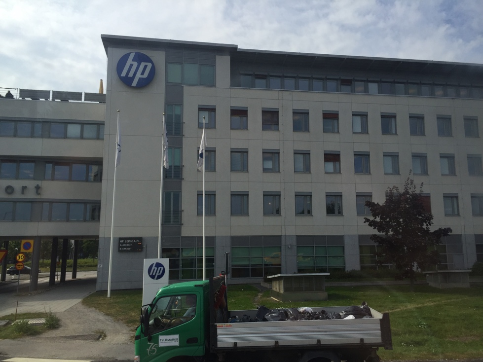 HP office in suburban Stockholm, Sweden.