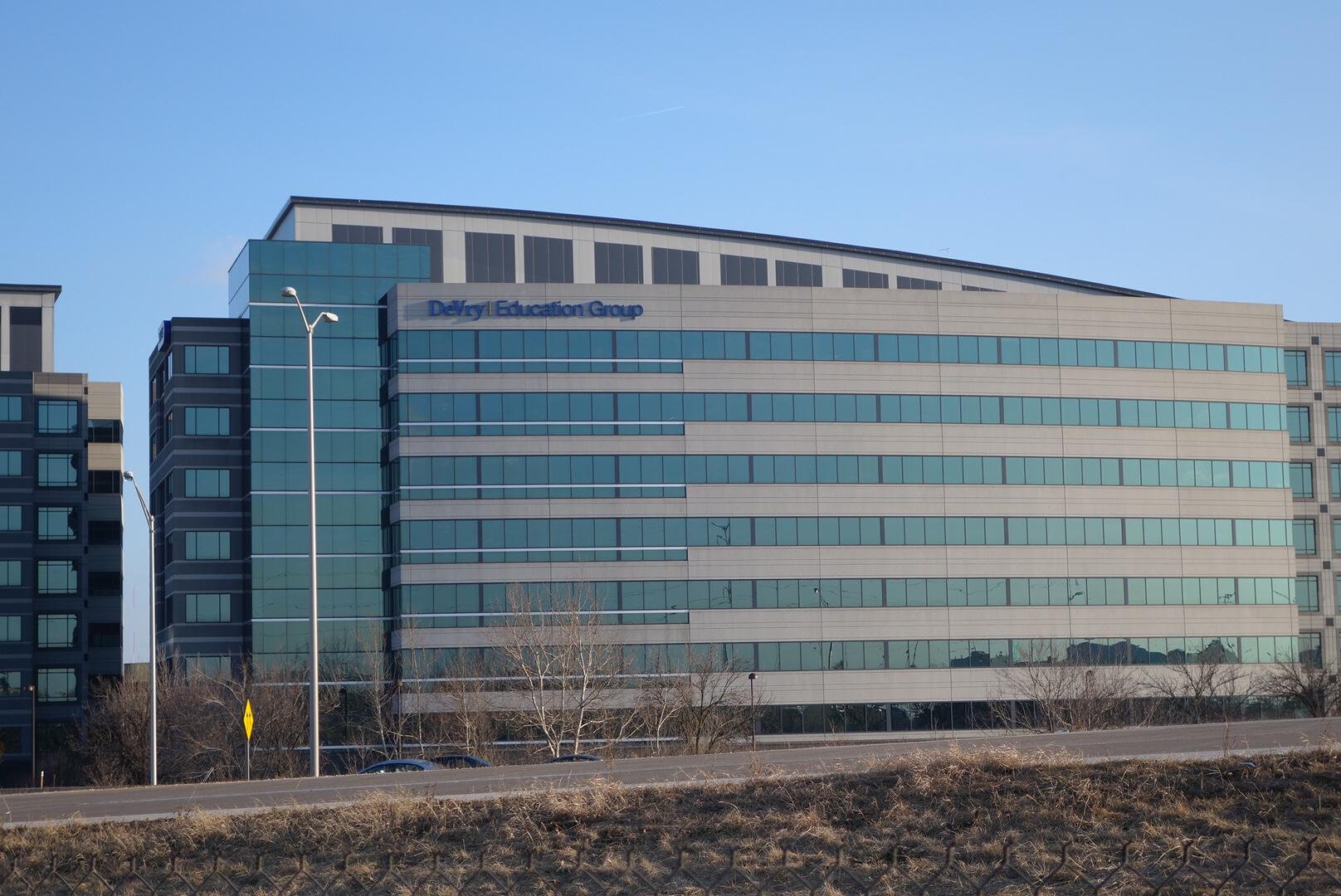 DeVry's corporate headquarters in Downers Grove, Illinois.