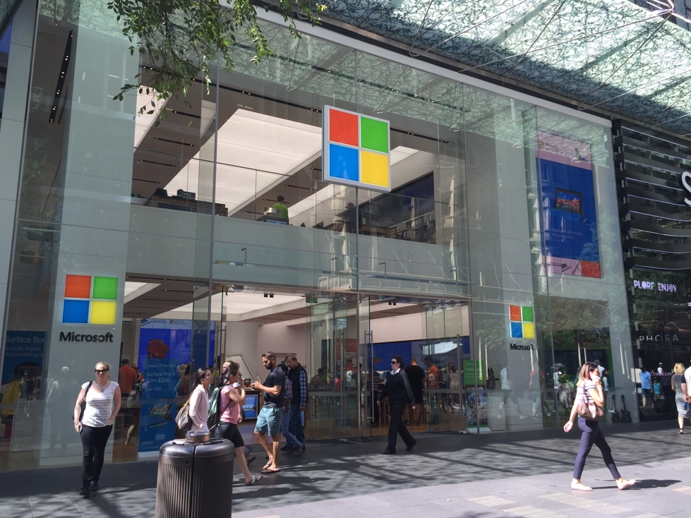 Microsoft retail store in Downtown Sydney, Australia.