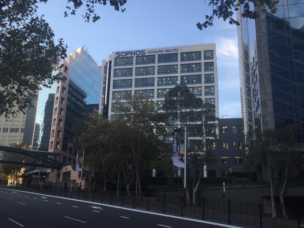 Sophos' office building in North Sydney, Australia.