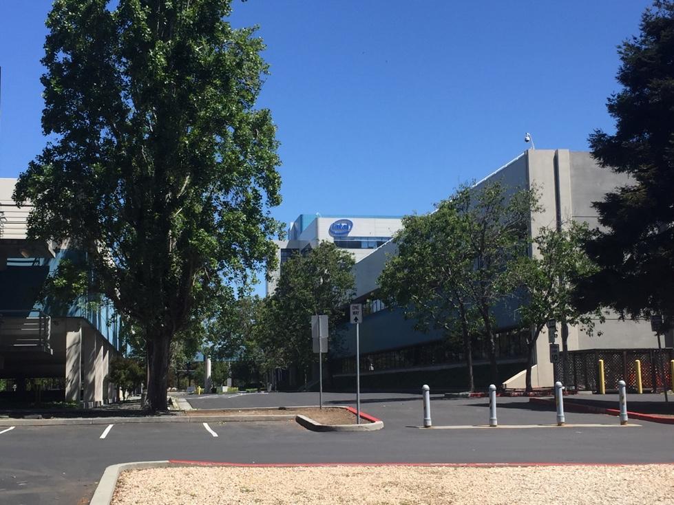 Intel's corporate headquarters in Santa Clara, California.