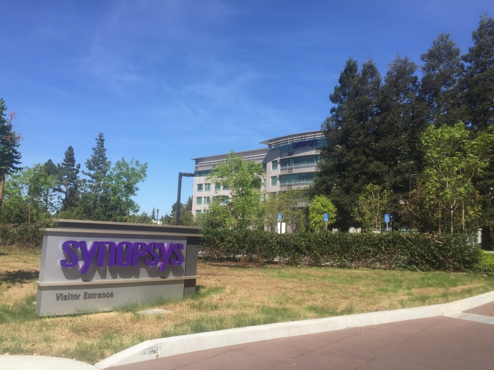 Entrance to Synopsys' corporate headquarters in Mountain View, California.