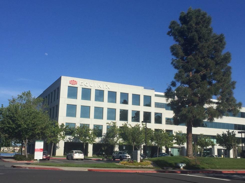 Equinix's corporate headquarters in Redwood City, California.