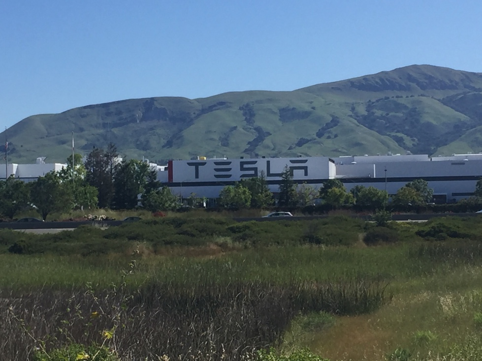 Tesla's production and assembly facility in Fremont, California.