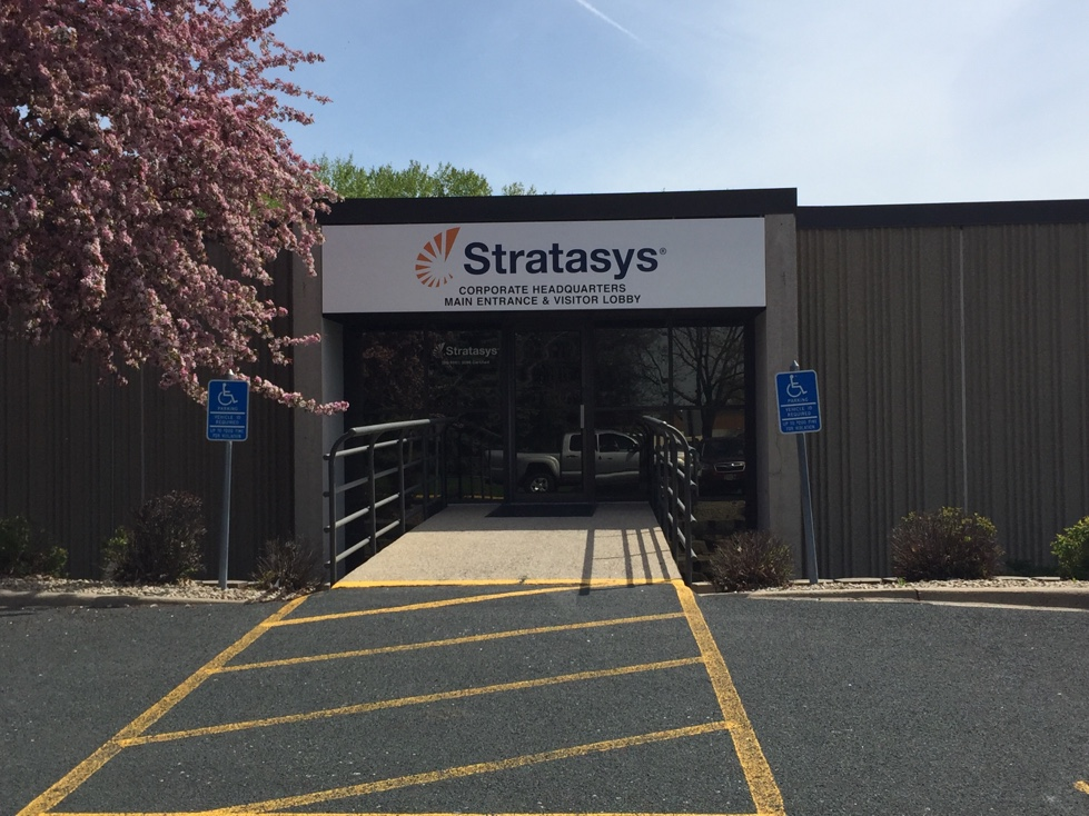 Stratasys' corporate headquarters in Eden Praire, Minnesota.
