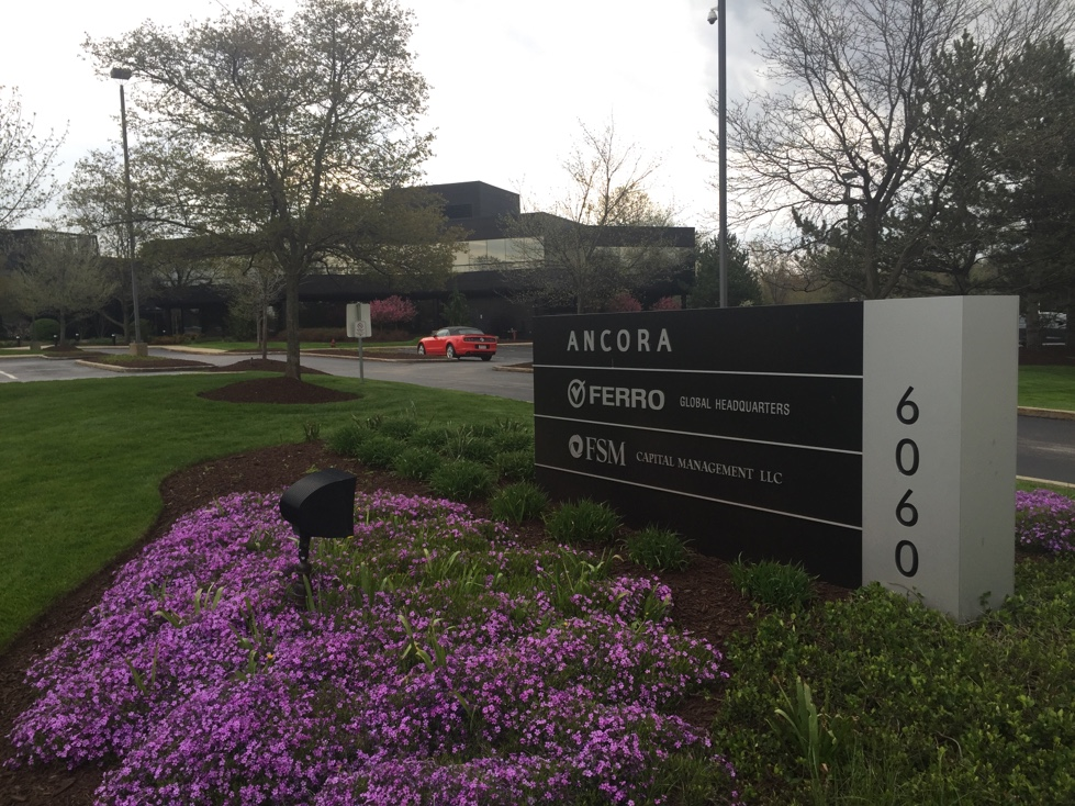 Ferro's corporate headquarters in Mayfield Heights, Ohio.