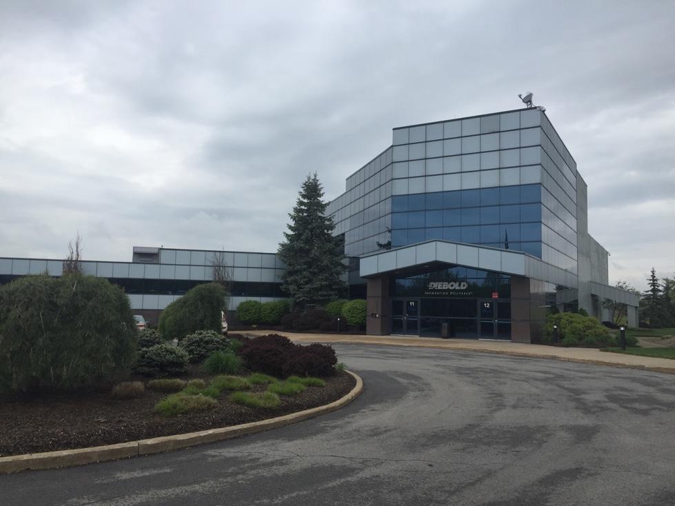 View of Diebold's corporate headquarters in North Canton, Ohio.