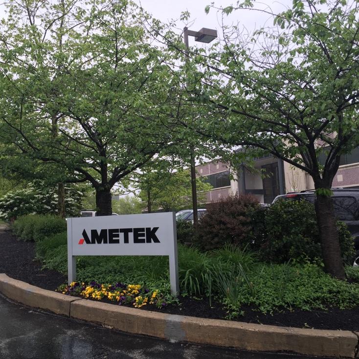 Entrance to AMETEK's headquarters in Berwyn, Pennsylvania.