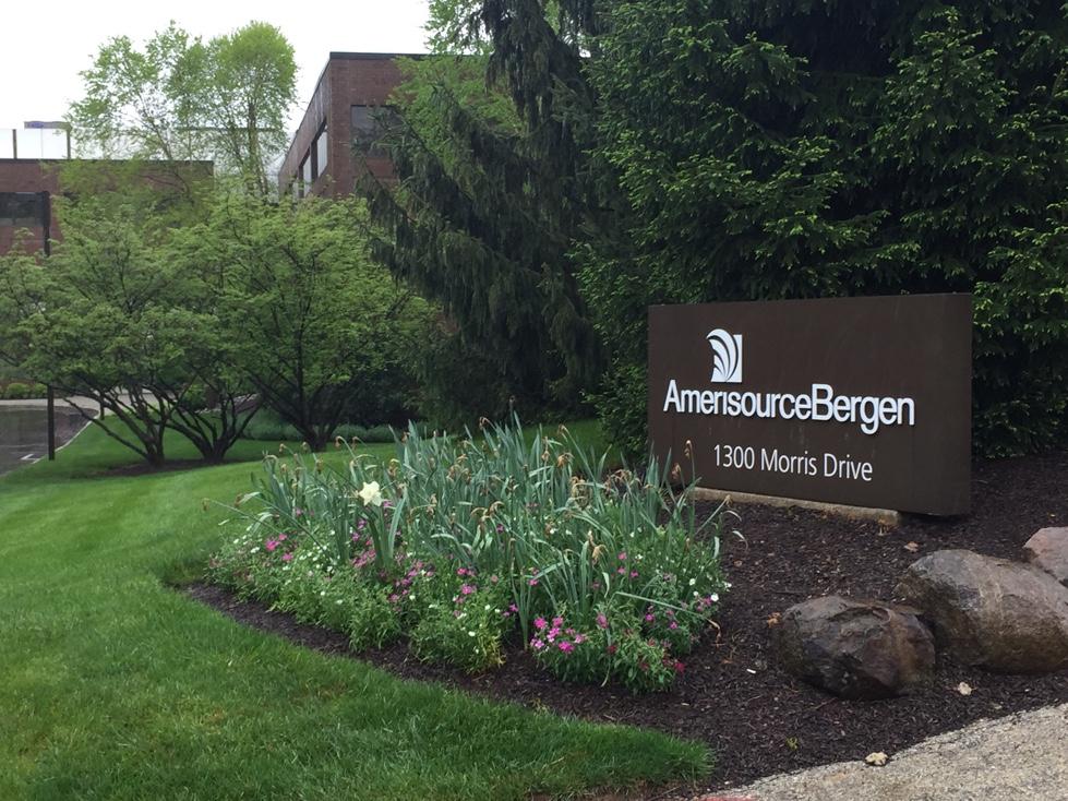 Entrance to AmerisourceBergen's corporate headquarters in Chesterbrook, Pennsylvania.