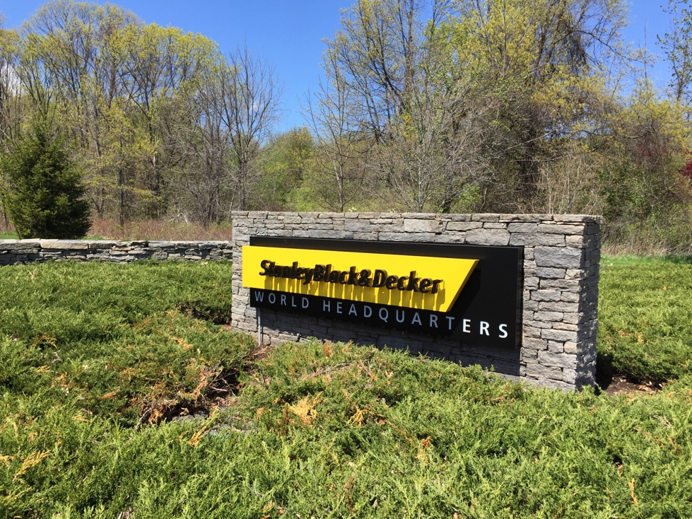 Entrance to Stanley Black & Decker's corporate headquarters in New Britain, Connecticut.