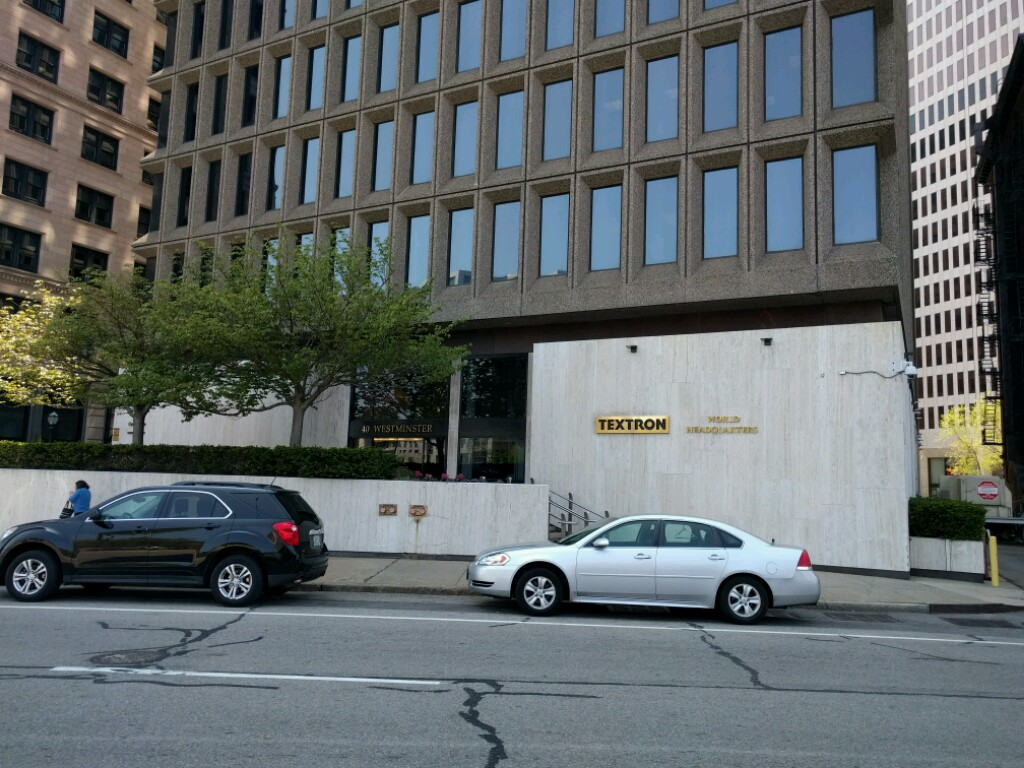 Textron's corporate headquarters in downtown Providence, Rhode Island.