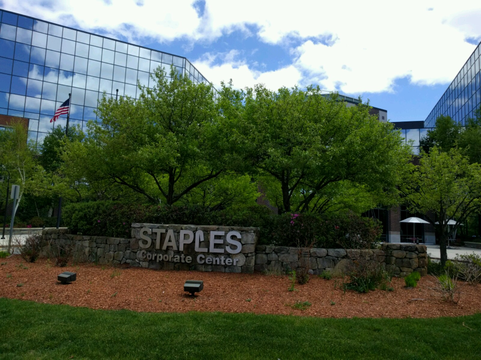 Staples' corporate headquarters in Framingham, Massachusetts.