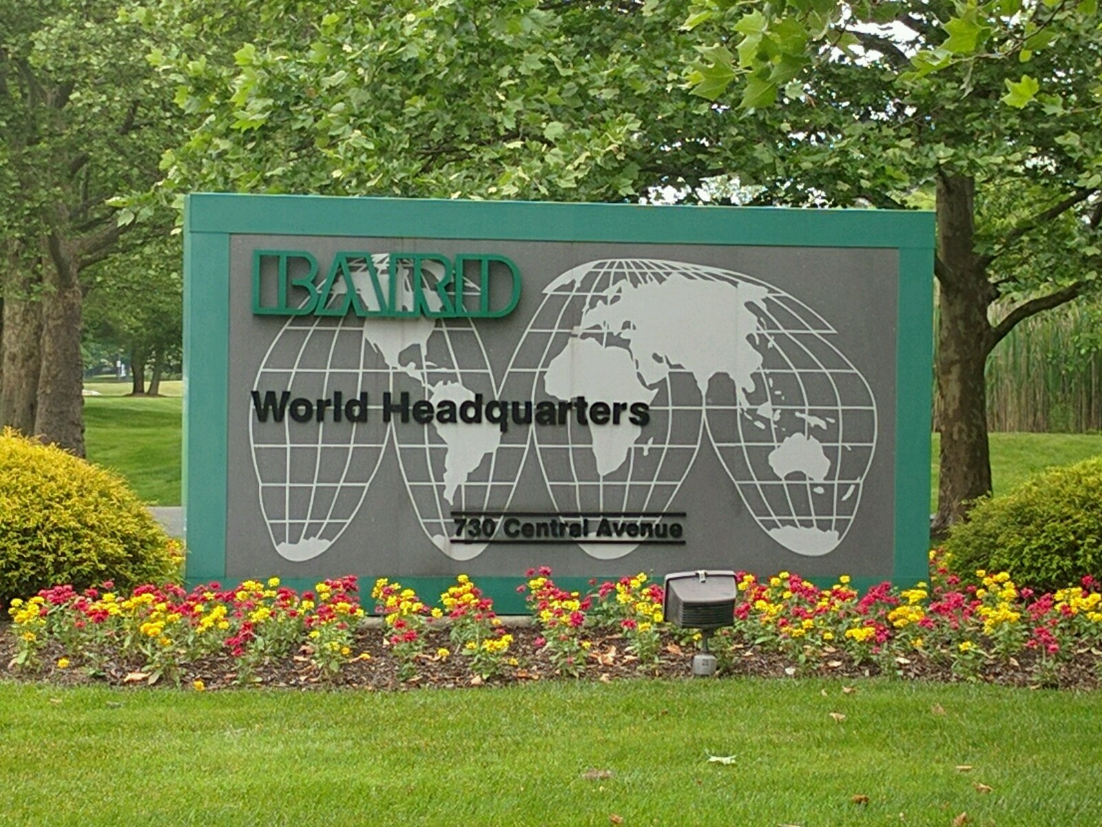 Entrance to C. R. Bard's corporate headquarters in Murray Hill, New Jersey.
