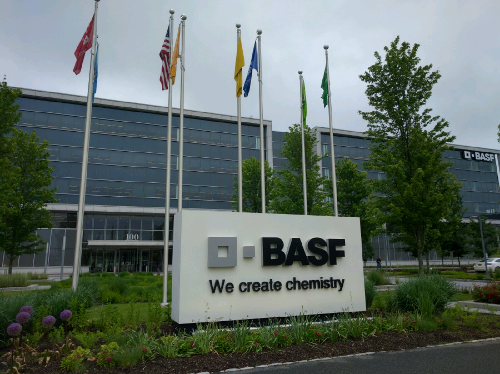Entrance to BASF's office in Florham Park, New Jersey.
