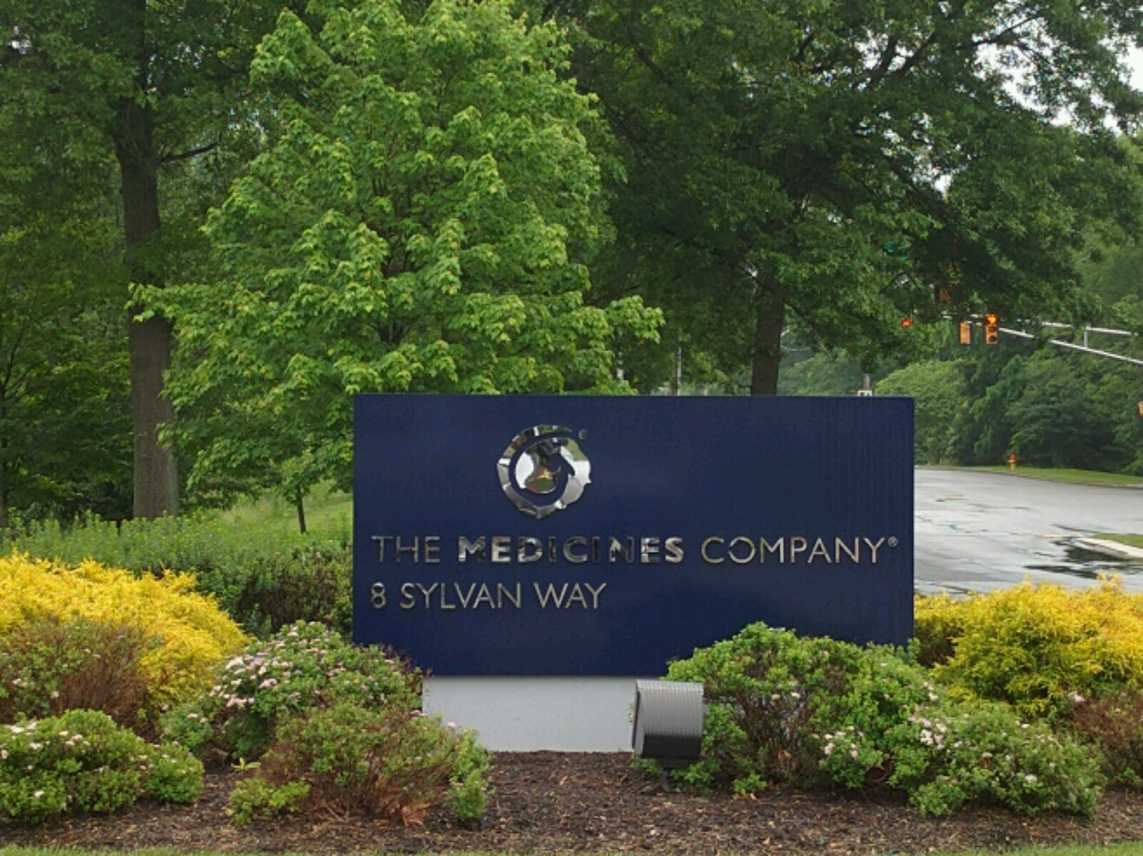 Entrance to The Medicines Company's corporate headquarters in Parsippany, New Jersey.