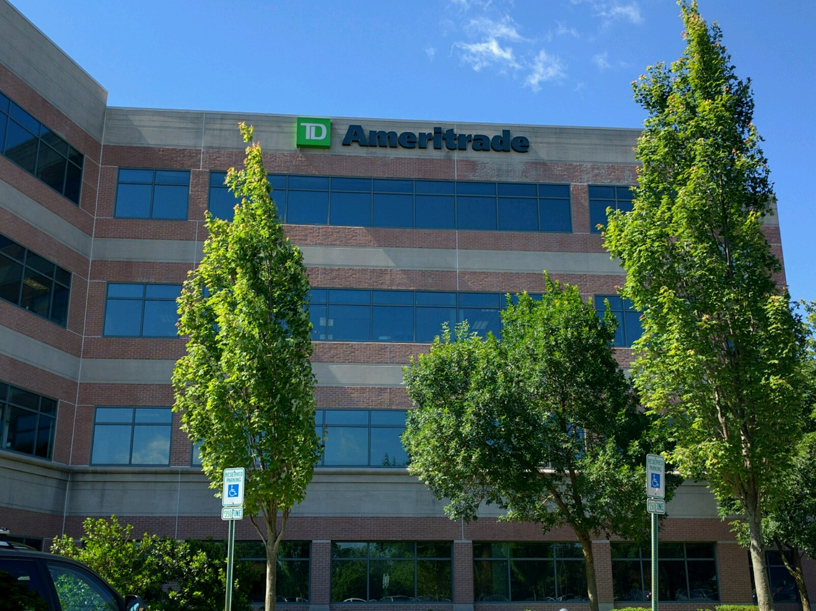 TD Ameritrade office in Columbia, Maryland.