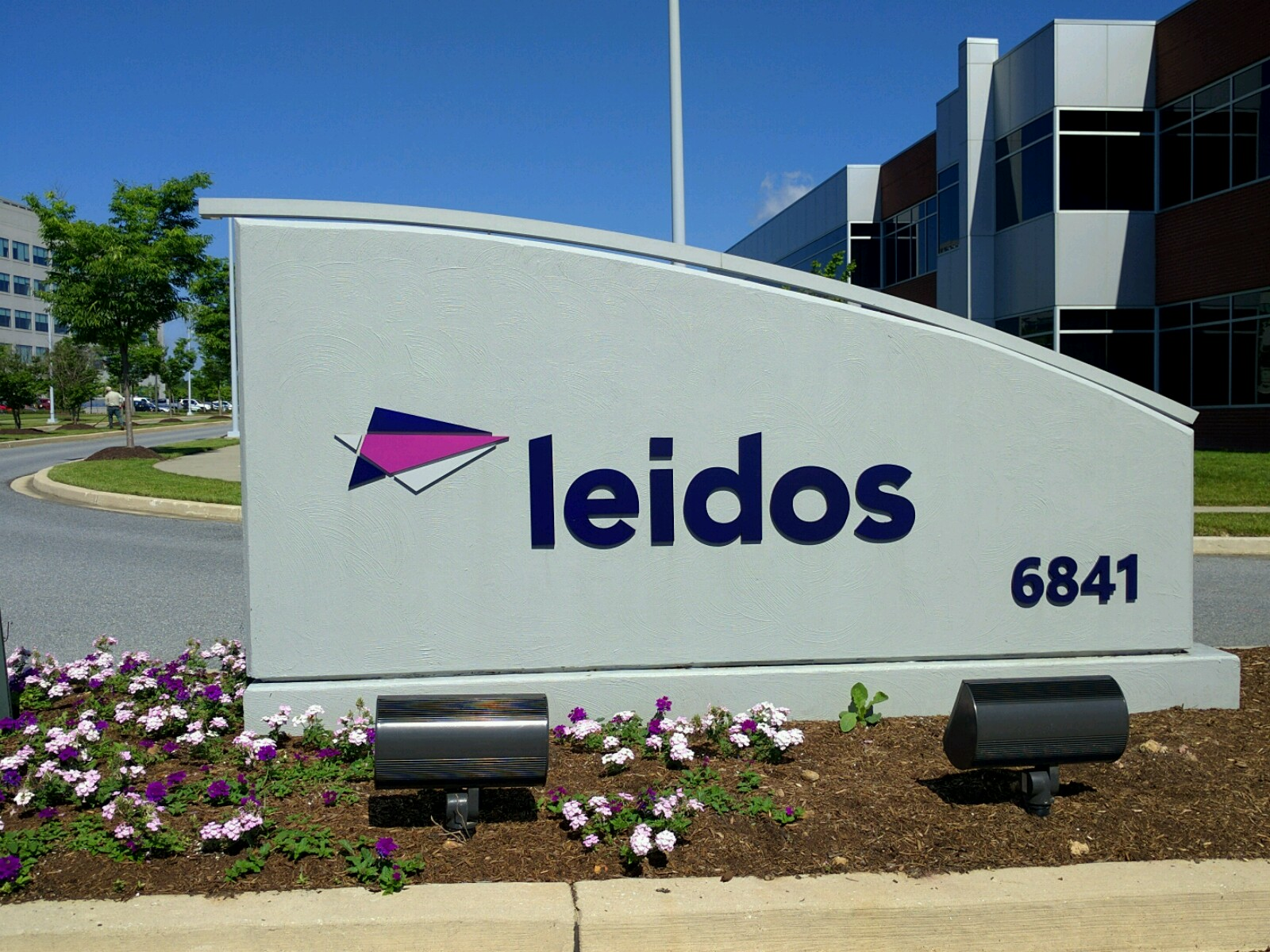 Entrance to Leidos' office in Columbia, Maryland.