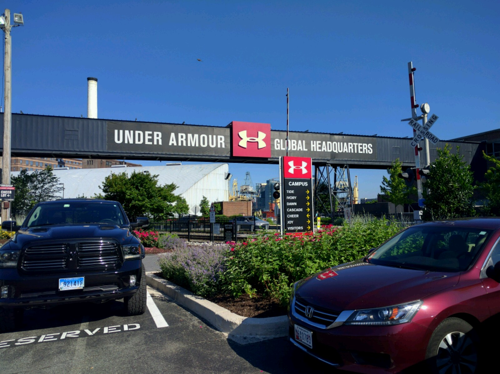 Under Armour's corporate headquarters in Baltimore, Maryland.
