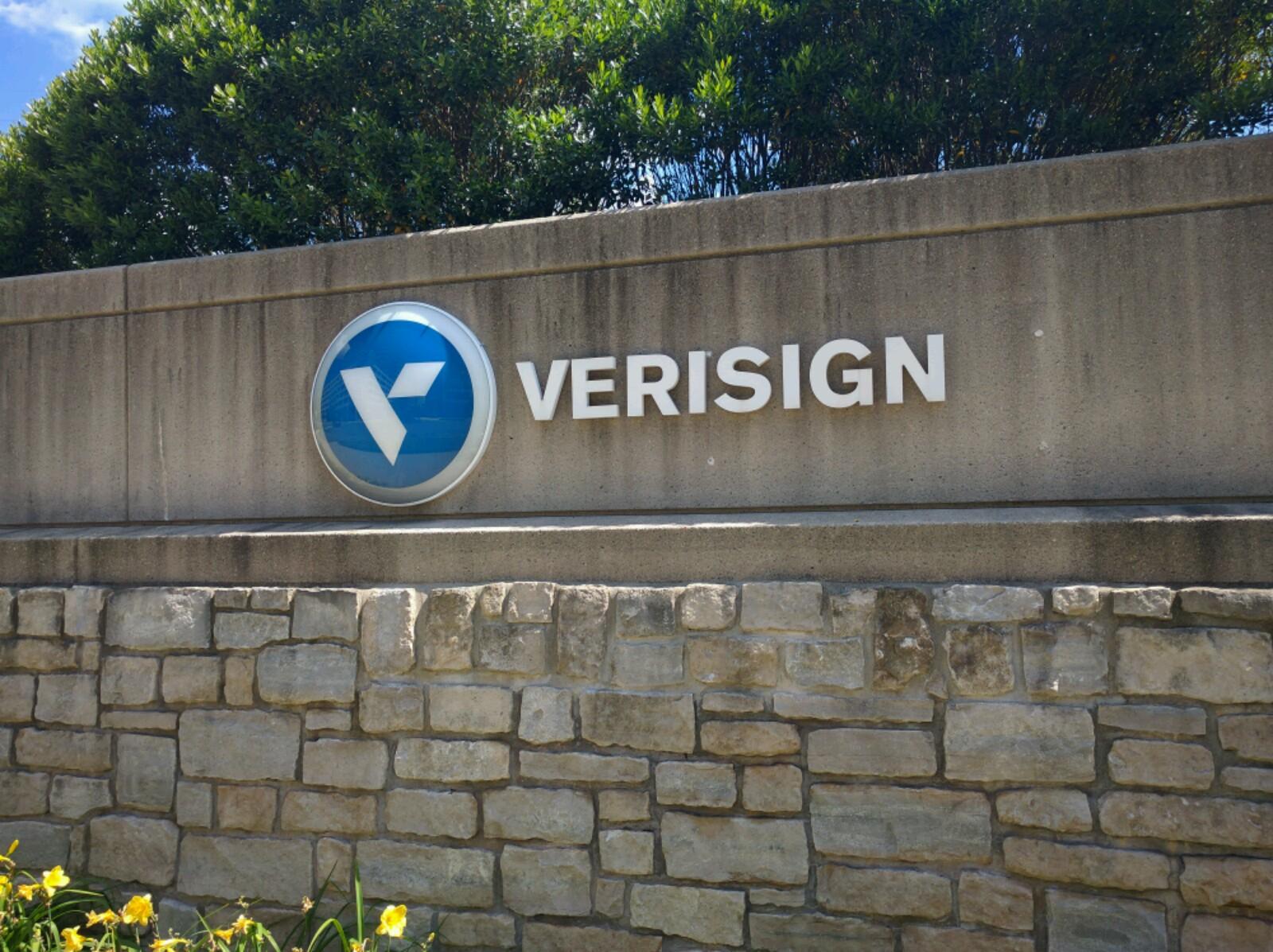 Entrance to VerSign's corporate headquarters in Reston, Virginia.