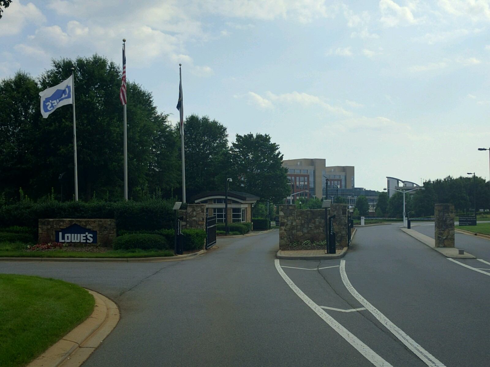 Entrance to Lowe's Companies' corporate headquarters in Mooresville, North Carolina.