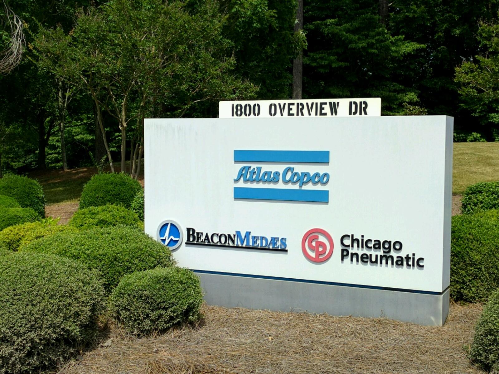 Entrance to an Atlas Copco facility in Rock Hill, South Carolina.