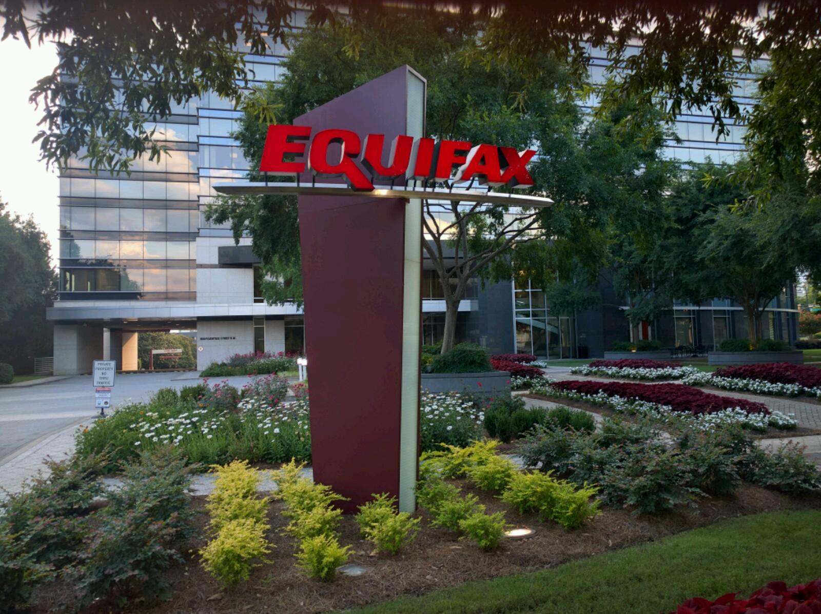 Entrance to Equifax's corporate headquarters in Atlanta, Georgia.