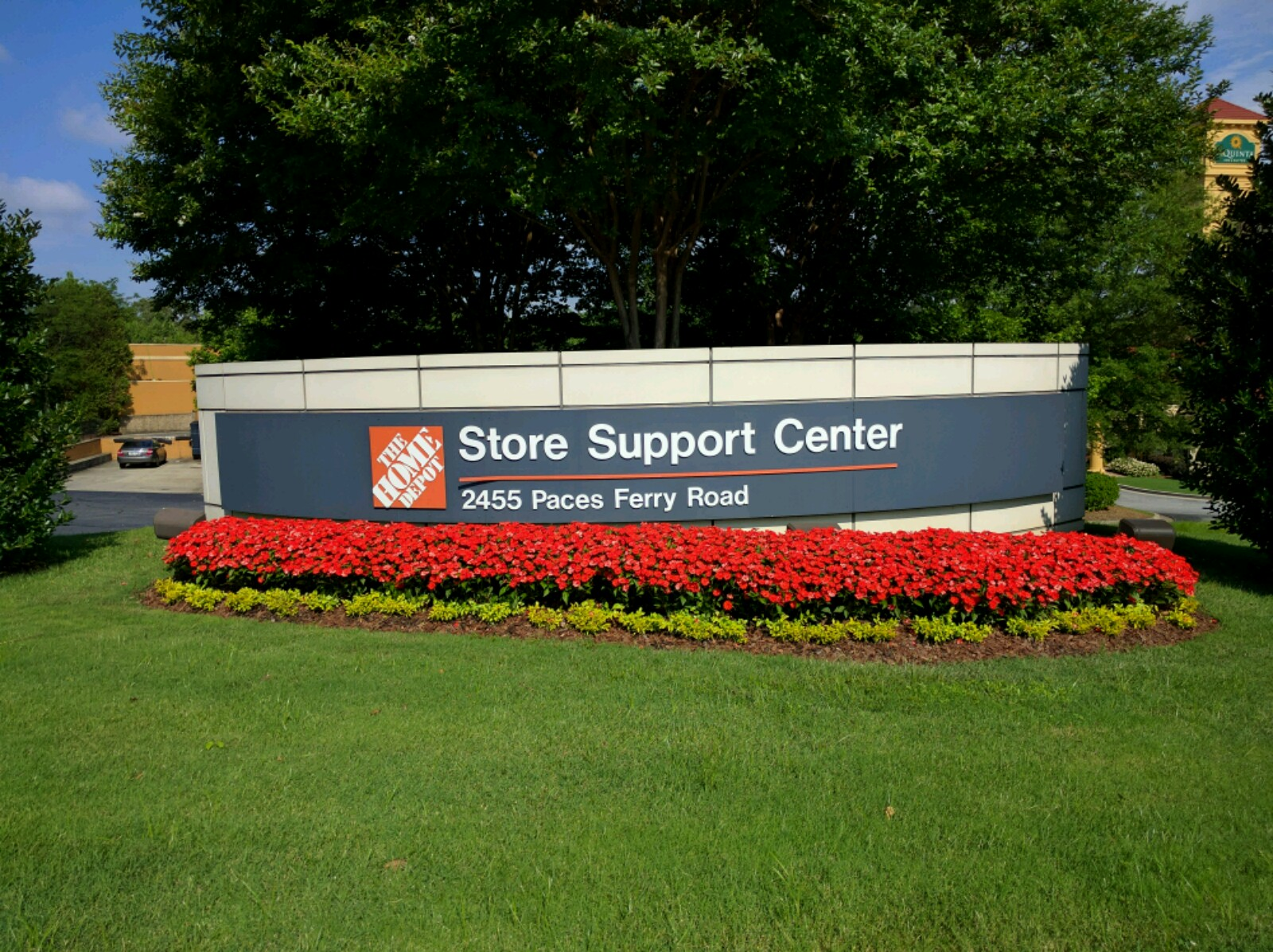 Entrance to Home Depot's corporate headquarters in Atlanta, Georgia.