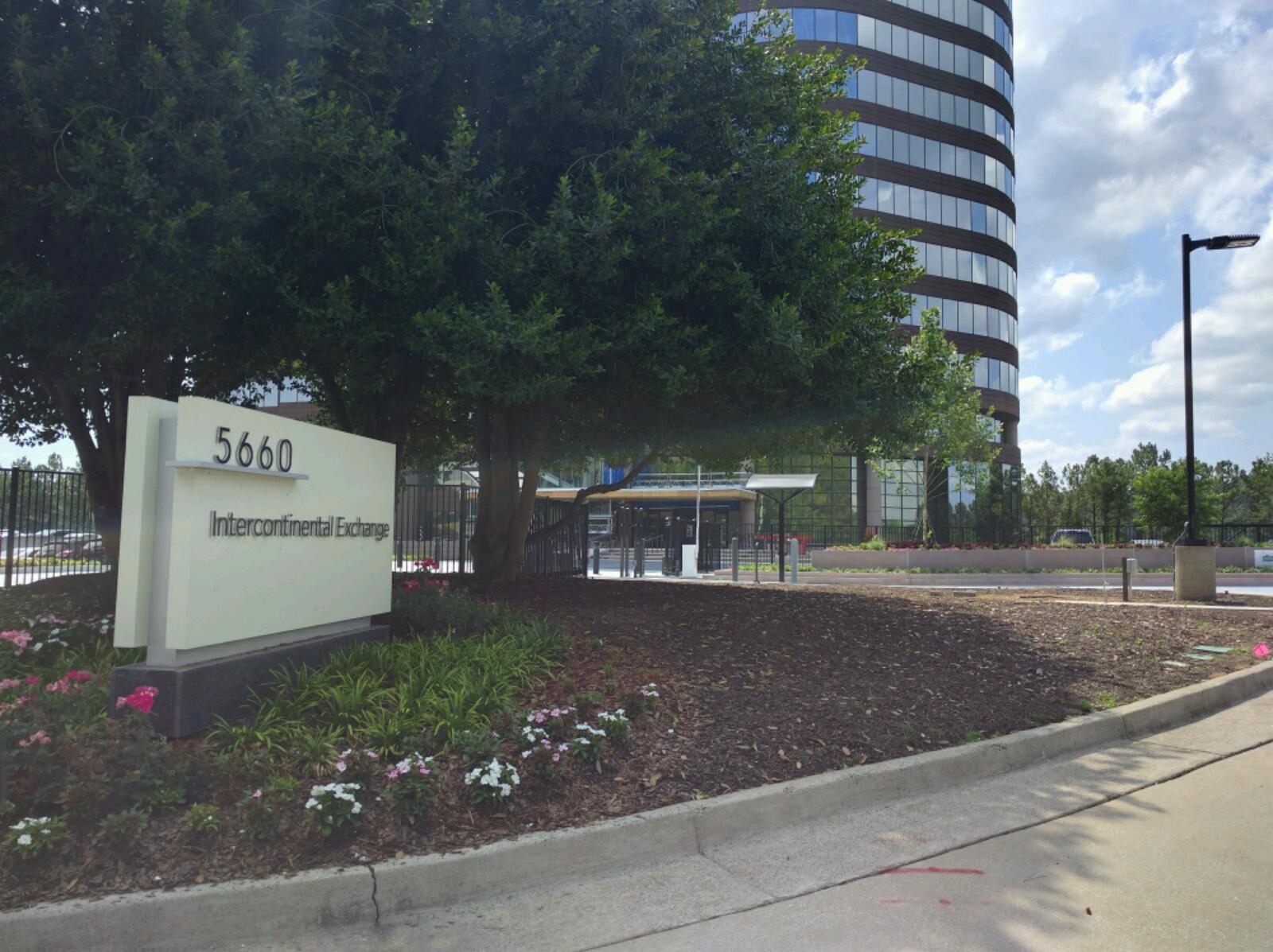 Entrance to Intercontinental Exchange's corporate headquarters in Atlanta, Georgia.