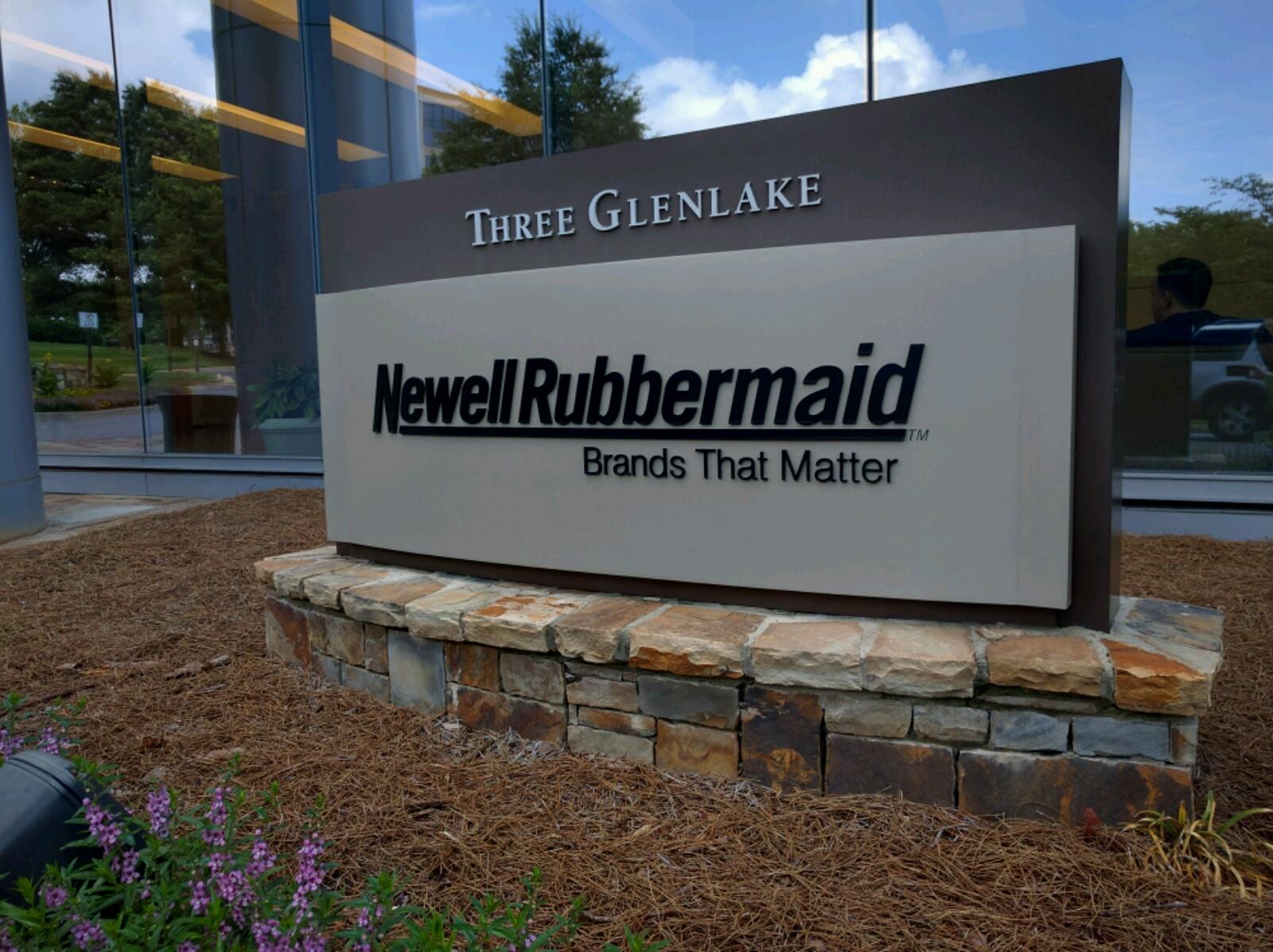 Entrance to Newell Brands' corporate headquarters in Atlanta, Georgia.