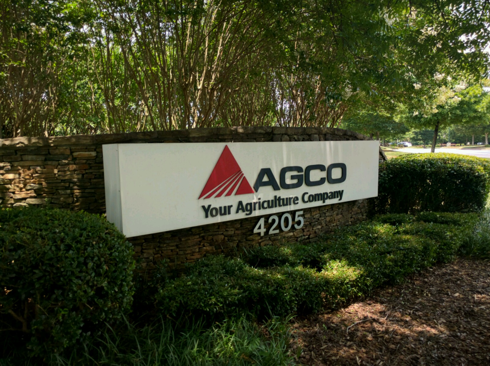 Entrance to AGCO's corporate headquarters in Duluth, Georgia.