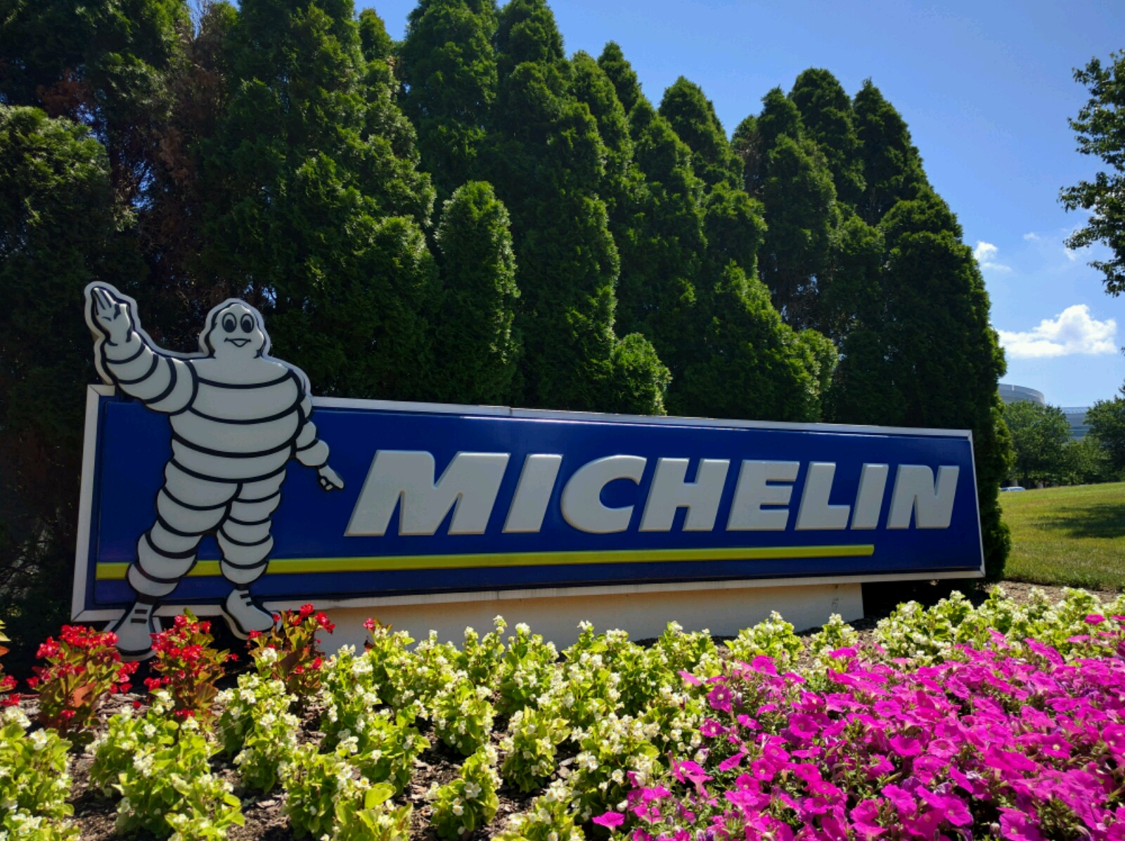 Entrance to Michelin's North American headquarters in Greenville, South Carolina.