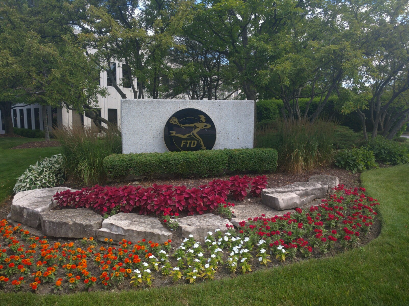 Entrance to FTD's corporate headquarters in Downers Grove, Illinois.