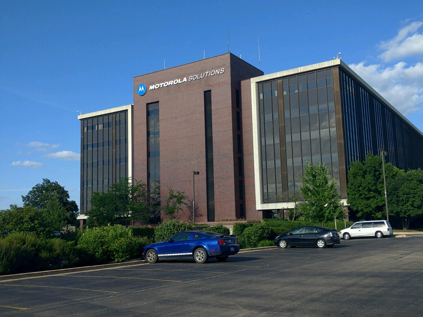 Building F on Motorola Solutions' corporate campus in Schaumburg, Illinois.