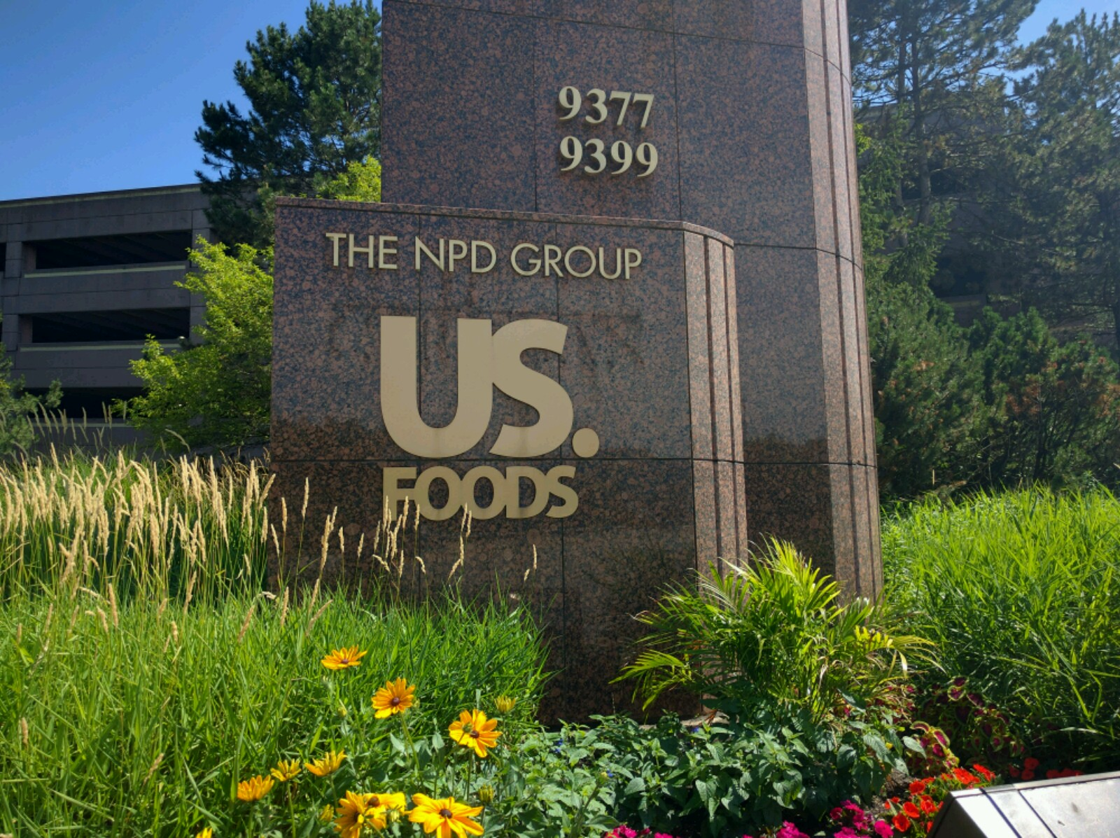 Entrance to US Foods' headquarters in Rosemont, Illinois.