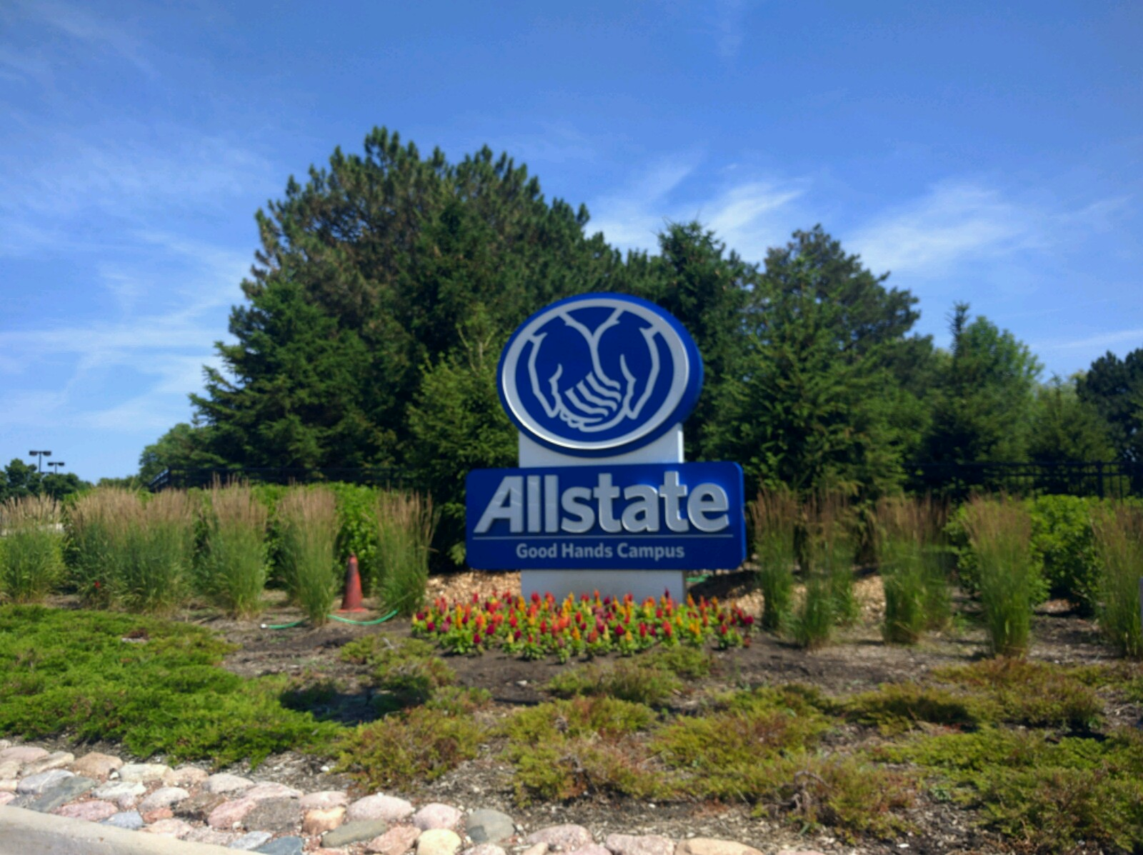 Entrance to Allstate's corporate headquarters in Northbrook, Illinois.