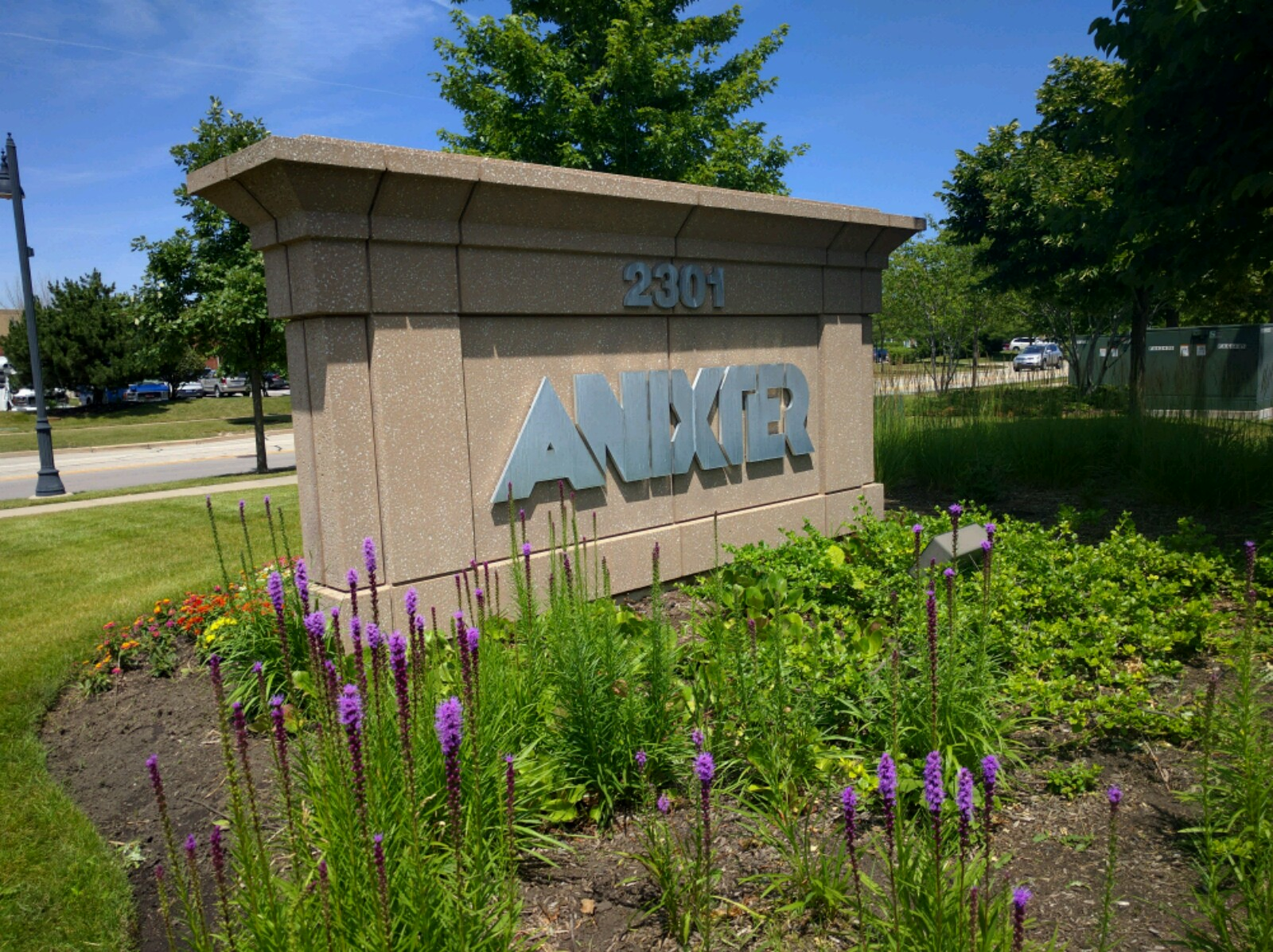 Entrance to Anixter's corporate headquarters in Glenview, Illinois.