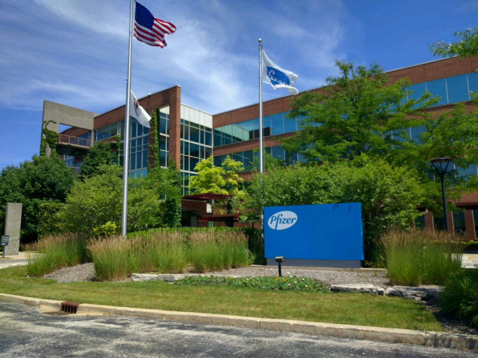 Pfizer office in Lake Forest, Illinois.