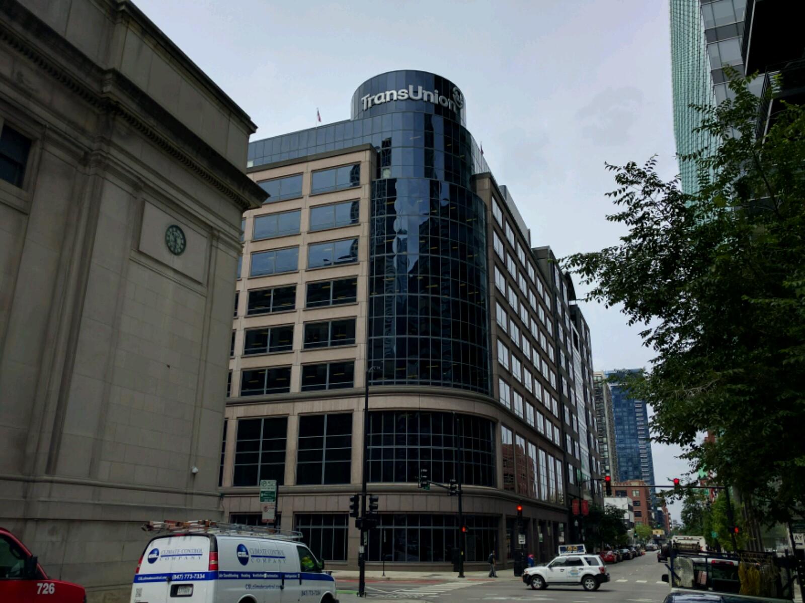 TransUnion's corporate headquarters in downtown Chicago, Illinois.