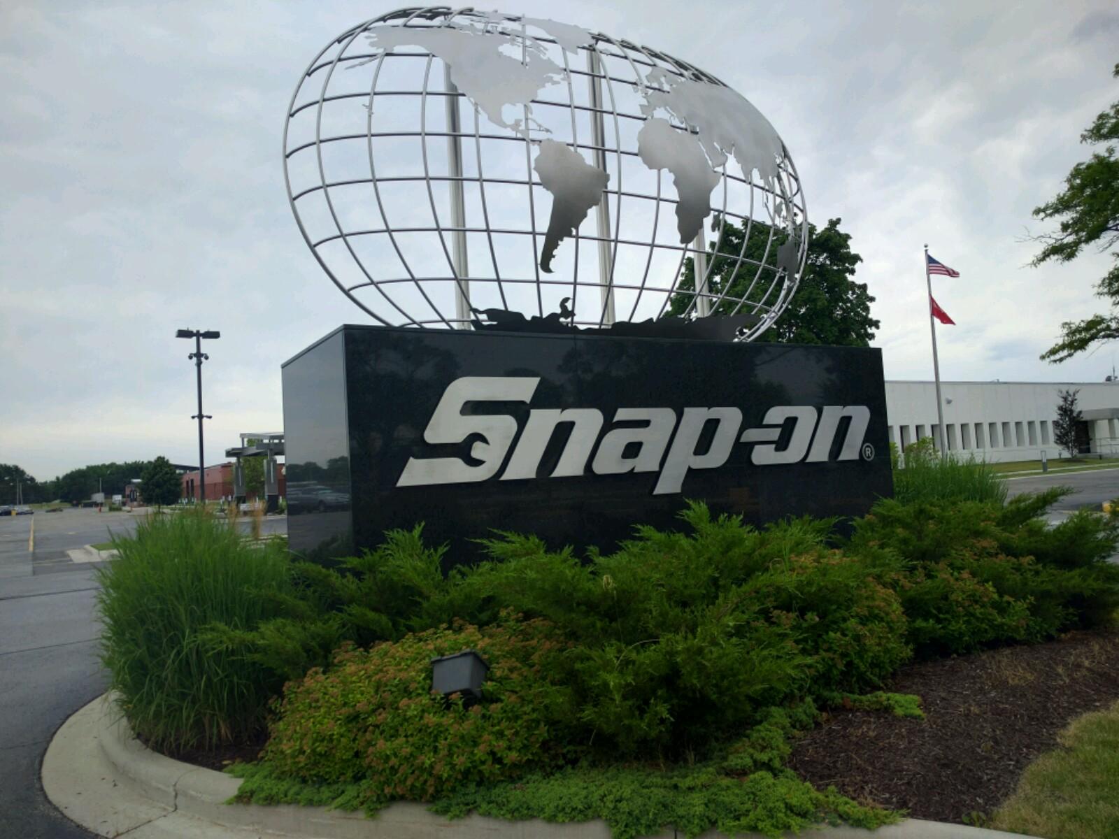 Entrance to Snap-on's corporate headquarters in Kenosha, Wisconsin.