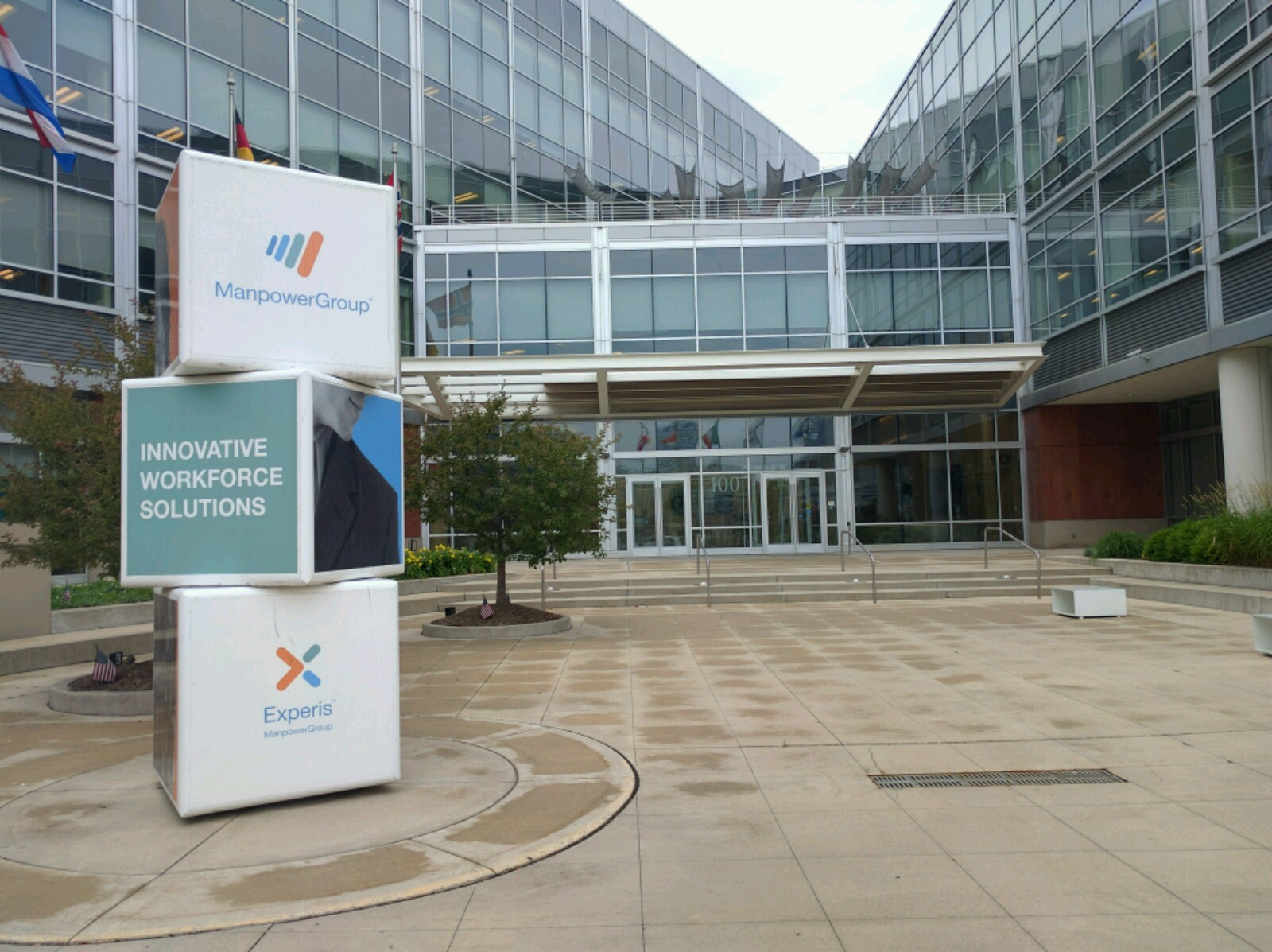 Entrance to ManpowerGroup's corporate headquarters in Milwaukee, Wisconsin.