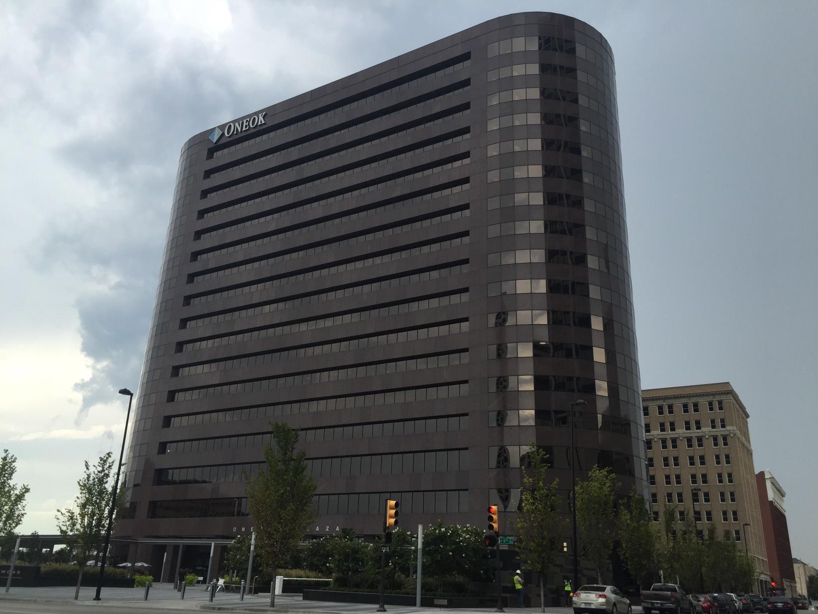 ONEOK's corporate headquarters in Tulsa, Oklahoma.