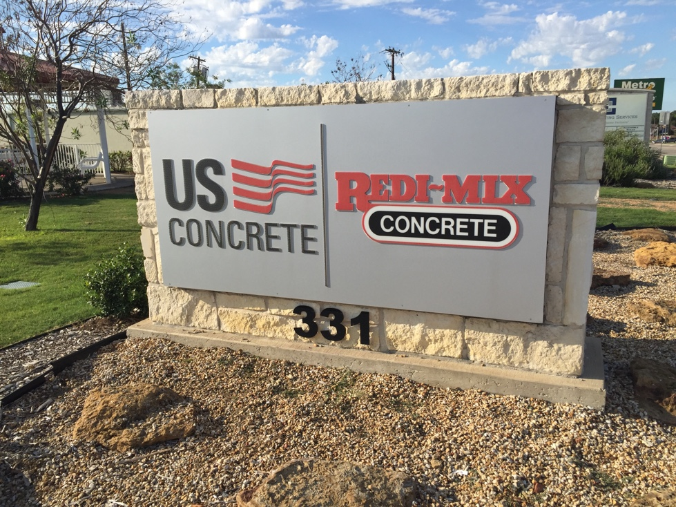 Entrance to U.S. Concrete's corporate headquarters in Euless, Texas.