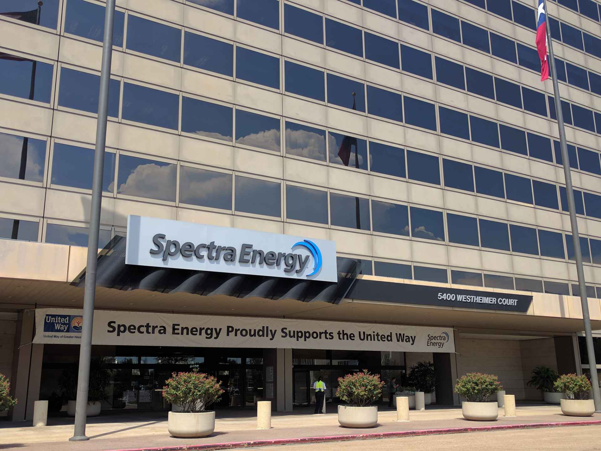 Entrance to Spectra Energy's corporate headquarters in Houston, Texas.