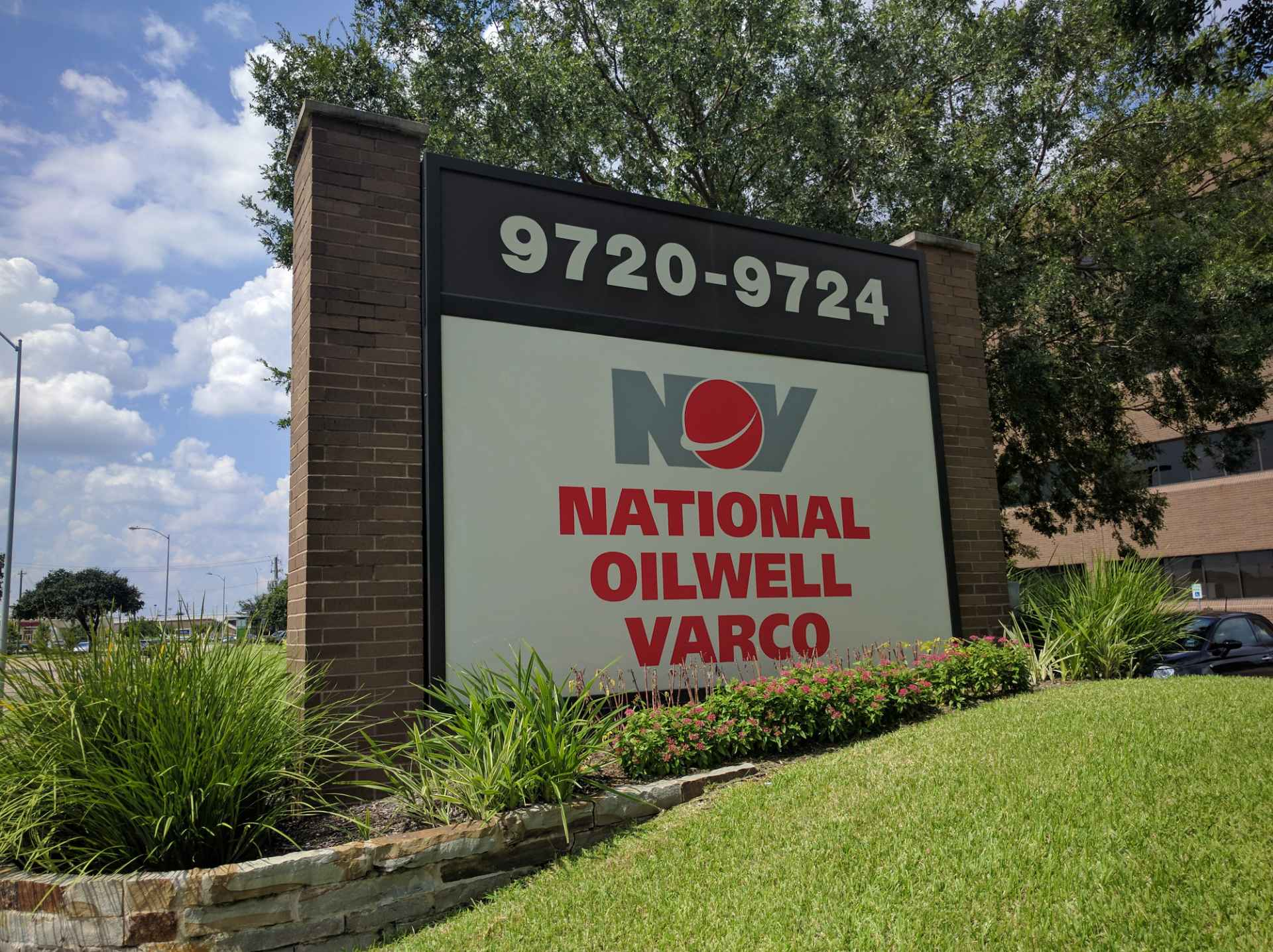 Entrance to National Oilwell Varco's corporate headquarters in Houston, Texas.
