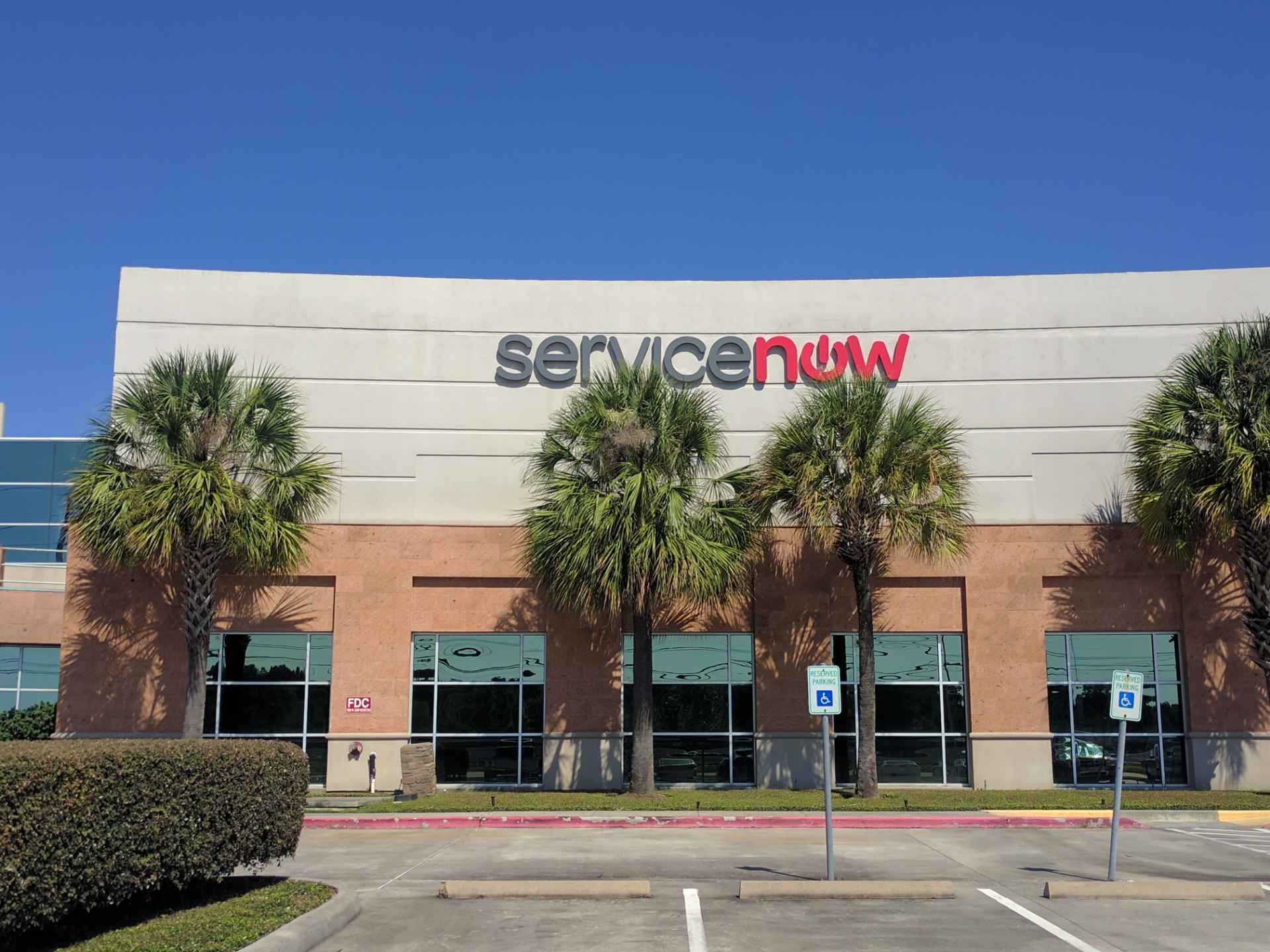 ServiceNow office in Houston, Texas.