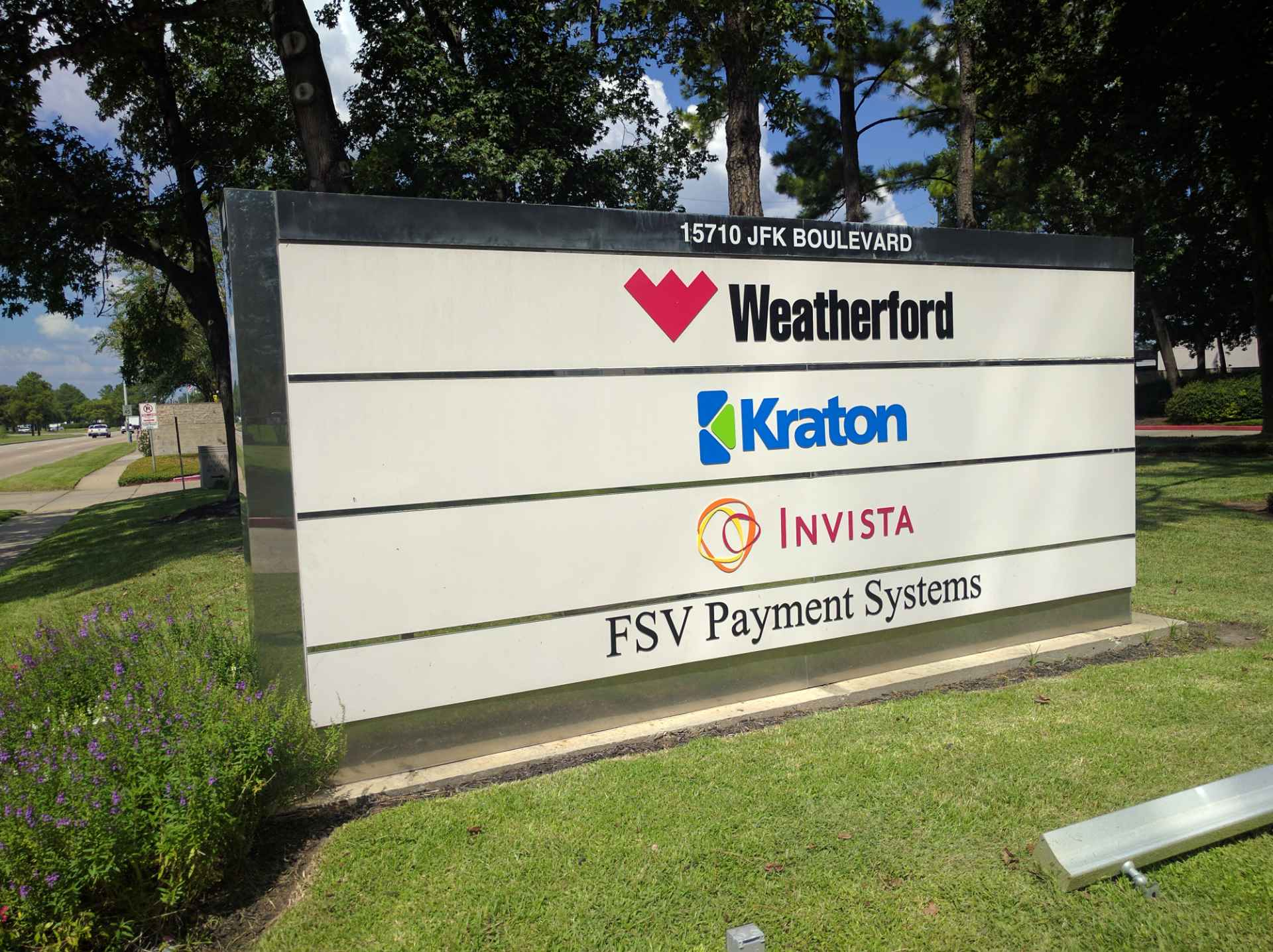 Entrance to Kraton's corporate headquarters in Houston, Texas.